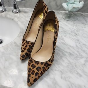 Cole Haan Leppard Print Calf Hair Pumps